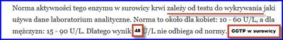 Normy GGPT w surowicy krwi
