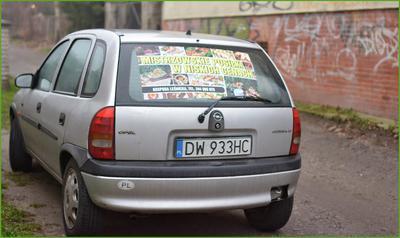 Służbowe auto Gospody Leśnickiej