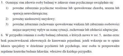 Zasady badania kierowców z chorobą psychiczną