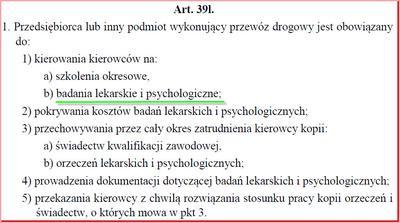 Artykuł 39l Ustawy o Transporcie Drogowym