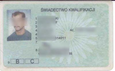 Stary wzór wkładki do prawa jazdy [bez kodu 95]