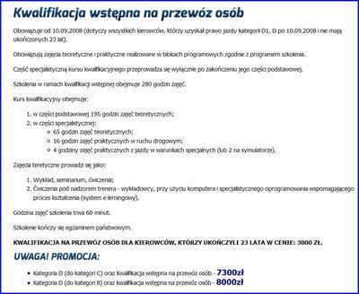Ceny kwalifikacji wstępnej we Wrocławiu