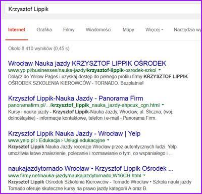 Instruktor Krzysztof Lippik