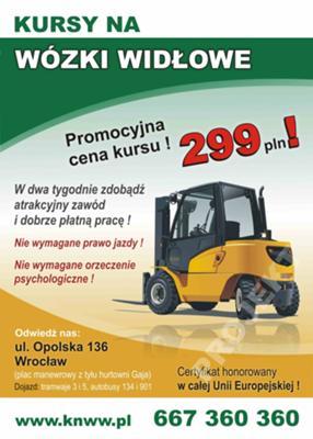 Kurs na wózek widłowy Wrocław Opolska136