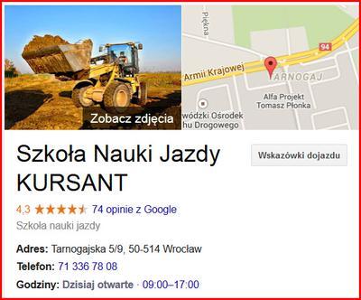 Dojazd do OSK na kurs wózków widłowych we Wrocławiu