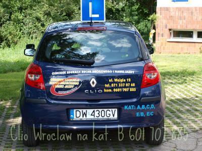 Prawo jazdy kat B na Renault Clio Wrocław