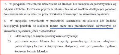 Najnowsze normy badań za alkohol