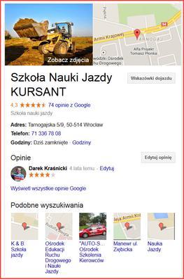 Opinie na temat instruktorów Kursanta we Wrocławiu