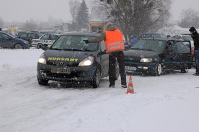 Zimowa nauka jazdy
