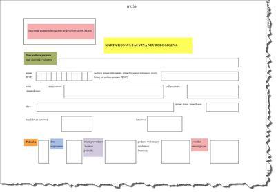 Karta konsultacyjna neurologiczna