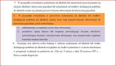 Norma udokumentowanej abstynencji alkoholowej