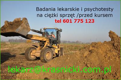 Badania lekarskie i psychotechniczne na koparkę we Wrocławiu