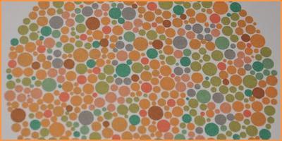 Badanie rozpoznawania kolorów na tablicach Ishihary