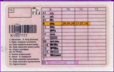 Prawo jazdy kategorii B terminowe na 5 lat: do wymiany