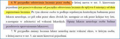 Norma badań na prawo jazdy po odstawieniu leczenia przeciwpadaczkowego