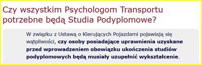 Czy studia psychologii transportu są konieczne?