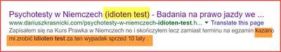 Idioten Test zrobiony w Polsce?