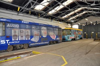 Wrocławski tramwaj w Zajezdni