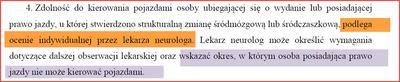 Zasady oceny schorzeń neurologicznych kierowców zawodowych