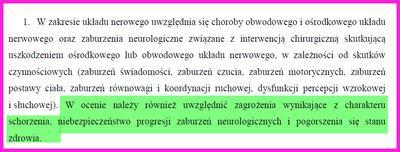 Zasady oceny schorzeń neurologicznych u Kierowcy