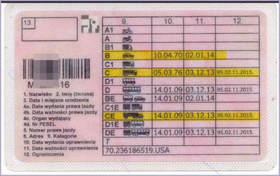 Zabrane prawo jazdy a pozostawiona kategoria C